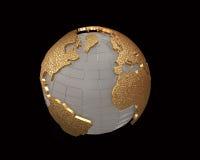Goldkugel 3d übertragen lizenzfreie abbildung