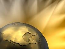 Goldkugel-Nahaufnahme, Nordamerika stock abbildung