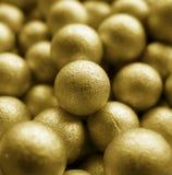 Goldkugeln Stockfotos