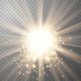 Goldlicht mit Schein stock abbildung