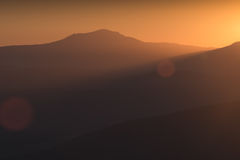 Goldlicht von Chatir-Dag stockfoto