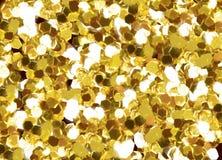 Goldliebesrahmen stockbild