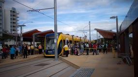 GoldlinQ-Licht-Schiene in Gold Coast Australien Lizenzfreies Stockfoto