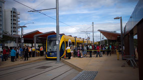 GoldlinQ Light Rail in Gold coast Australia Royalty Free Stock Photo