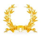 GoldlorbeerWreath Stockfoto