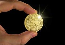Goldmünze lizenzfreies stockfoto
