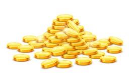 Goldmünzebargeld im Hügel vektor abbildung