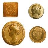 Goldmünzen Stockfotografie