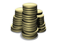 Goldmünzen vektor abbildung