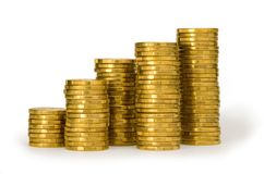 Goldmünzen Stockfotos