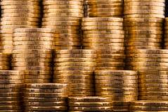 Goldmünzen. Lizenzfreie Stockfotografie