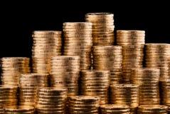 Goldmünzen. Stockfoto