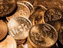 Goldmünzen Stockbild