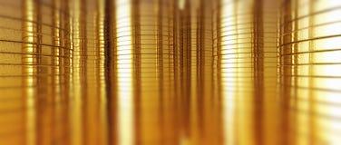 Goldmünzezusammenfassung Stockbilder