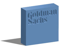 The Goldman Sachs Group. ISTANBUL, TURKEY - JUNE 08, 2015: The Goldman Sachs Group, Inc. logotype in 3d form and placed on white background. The Goldman Sachs Stock Photos