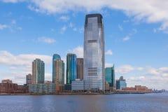 Goldman Sachs se eleva, Jersey City en New Jersey imagen de archivo