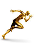 Goldman Sprinter. A Golden man off to a fast start Royalty Free Stock Images
