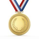 Goldmedaille Stockfotografie