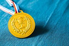 Goldmedaille Stockfoto
