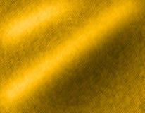 Goldmetall gebürsteter Hintergrund Stockfotos