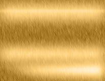 Goldmetall gebürsteter Hintergrund Stockfotografie