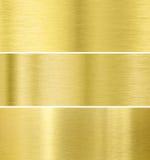 Goldmetallbeschaffenheitshintergrund Stockfoto