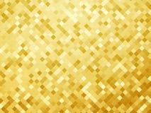 Goldmetallischer Hintergrund, Mosaikfliesen-Musterbeschaffenheit Lizenzfreies Stockfoto
