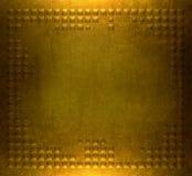 Goldmetallplattehintergrund Lizenzfreies Stockbild