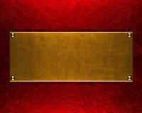 Goldmetallplattenhintergrund Lizenzfreie Stockfotografie