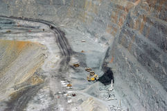Goldmine of Kalgoorlie. The Super Pit (in), 3.8 km length, 2 km broad and 400 m of depth, are the largest goldmine with open sky of Australia. It is very close Royalty Free Stock Photo