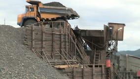 Goldmine in Yakutia stock video