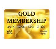 Goldmitgliedskarte Stockbild