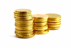 Goldmünzen Stockfoto