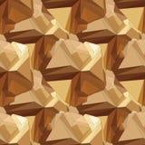 Goldnahtloses polygonales Muster Lizenzfreie Stockbilder