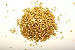 Goldnuggets lizenzfreie stockfotos