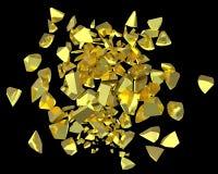Goldnuggets, die gebrochene Stücke übertragen vektor abbildung