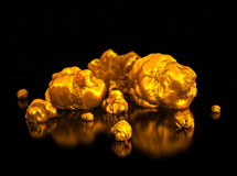 Goldnuggets Finanzillustration Stockfoto