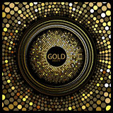 Goldparteivektor lizenzfreie abbildung