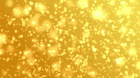 Goldpartikel-Hintergrund stock footage