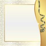 Goldperlenhintergrund Lizenzfreies Stockfoto