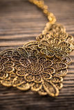 Goldplated feminine necklace Royalty Free Stock Image