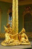 Goldplated skulptur av kinesisk theehouse Sanssousi Berlin Royaltyfri Fotografi