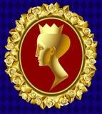 Goldprofil der Königin Stockfotos