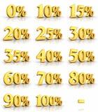 Goldprozent-Marken vektor abbildung