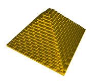 Goldpyramide lizenzfreie stockfotografie
