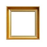 Goldquadratischer Rahmen Stockfotografie