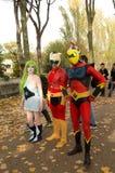Goldrake i Mazinga Z cosplayers przy zdjęcie stock