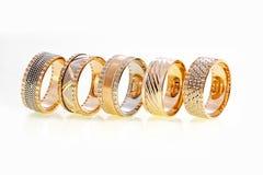 Goldringe Stockfoto