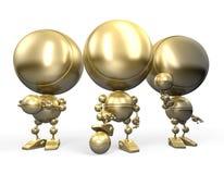 Goldroboterfußballspieler stock abbildung