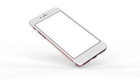 Goldrosafarbene Smartphones mit leerem Bildschirm Lizenzfreie Stockfotos
